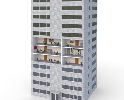 3D Grafik Bürohaus
