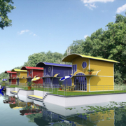 Architekturvisualisierung Floating Home